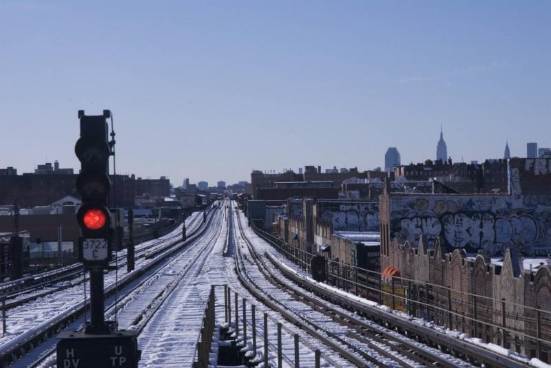 New York - Rain tracks in Queens