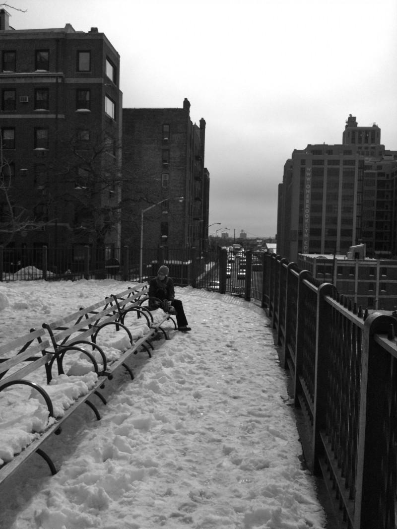 Lisbeth on a bench