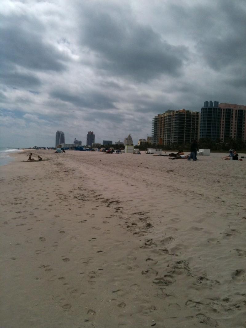 Ciel gris à Miami Beach