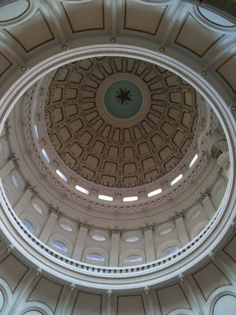 Inside State capitol, Austin